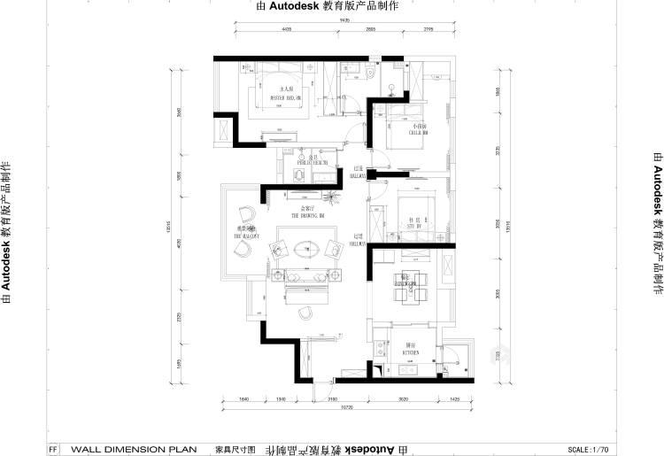 现代简约设计将131²的空间最大化-平面设计图及设计说明