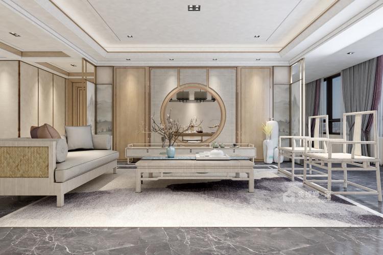 浅木色的新中式显得优雅大方-餐厅效果图及设计说明