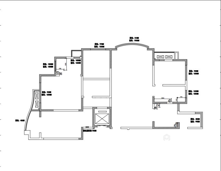 轻奢韵味之家 186平米美式大宅-业主需求&原始结构图