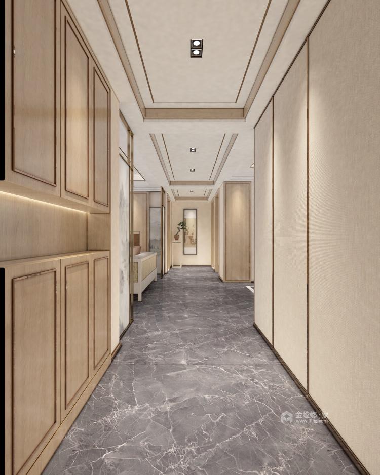 浅木色的新中式显得优雅大方-卧室效果图及设计说明