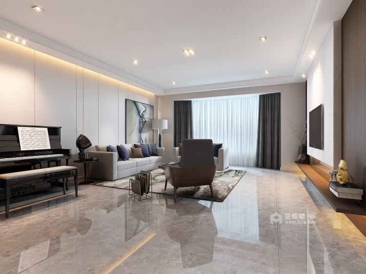 轻奢韵味之家 186平米美式大宅-客厅效果图及设计说明