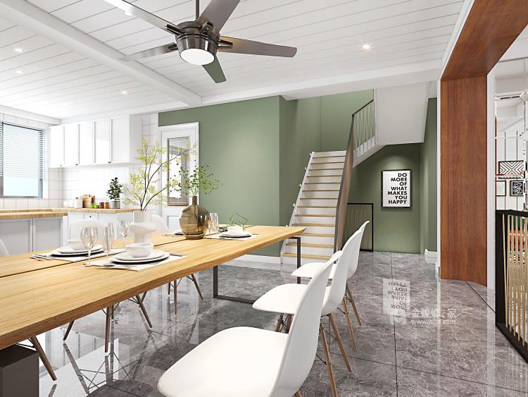 天然雅致的清爽家居 325平米北欧风-餐厅效果图及设计说明