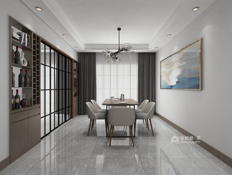 时尚温馨的现代风格家-餐厅效果图及设计说明