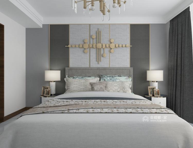时尚温馨的现代风格家-卧室效果图及设计说明