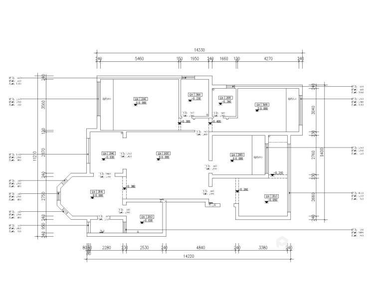 156平北欧小清新,舒适宜人-业主需求&原始结构图