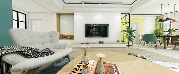 156平北欧小清新,舒适宜人-客厅效果图及设计说明