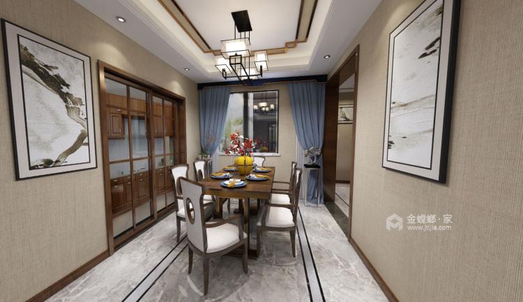 山水水墨入墙来,美轮美奂把家居-餐厅效果图及设计说明