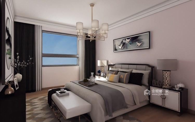 古典中式,营造一种中国式的安静、优雅之美-卧室效果图及设计说明