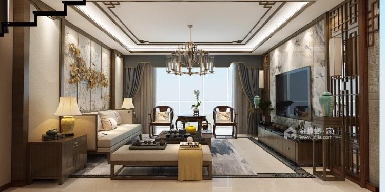 古典中式,营造一种中国式的安静、优雅之美-客厅效果图及设计说明