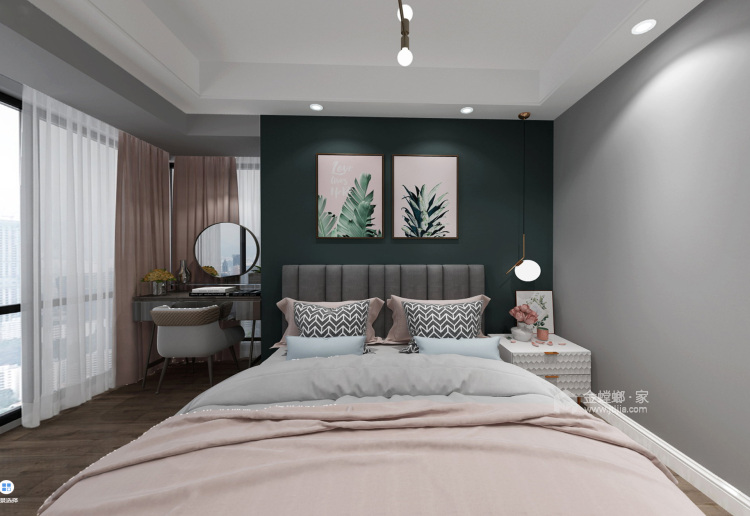 公主都无法抗拒的北欧风-卧室效果图及设计说明