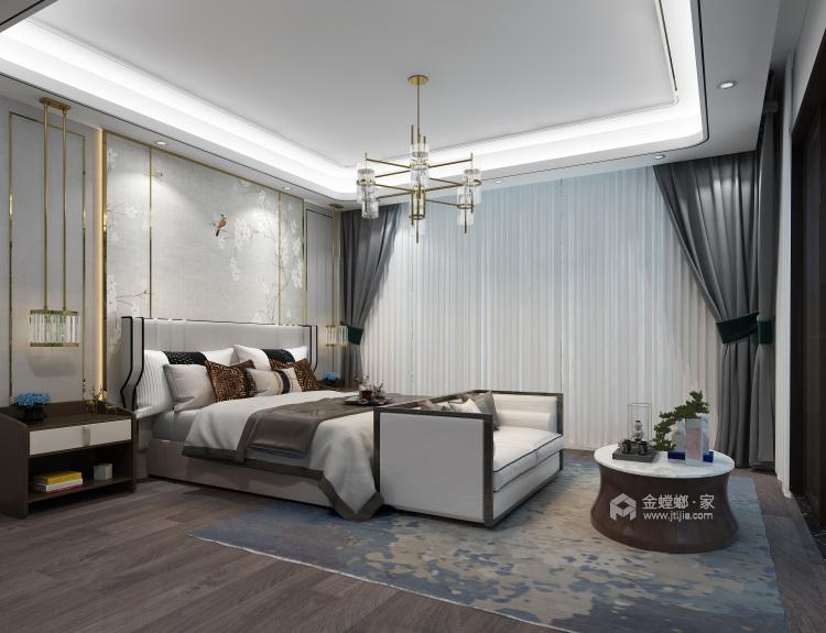 新中式,现代与传统的相结合-卧室效果图及设计说明