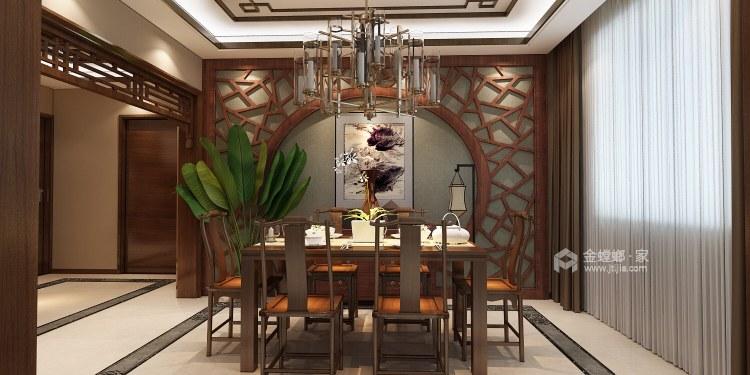 古典中式,营造一种中国式的安静、优雅之美-餐厅效果图及设计说明