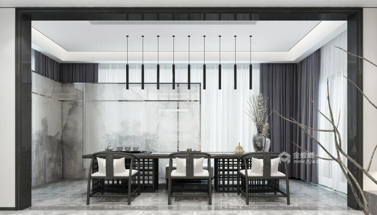 新中式,现代与传统的相结合-客厅效果图及设计说明