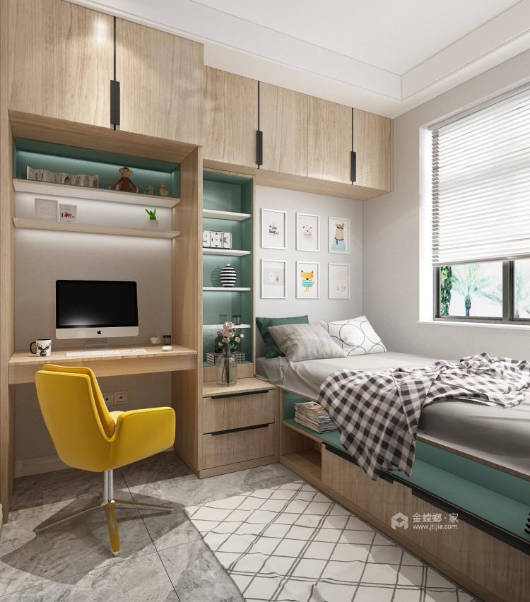 混搭风格的美,给人一种温馨的氛围-卧室效果图及设计说明