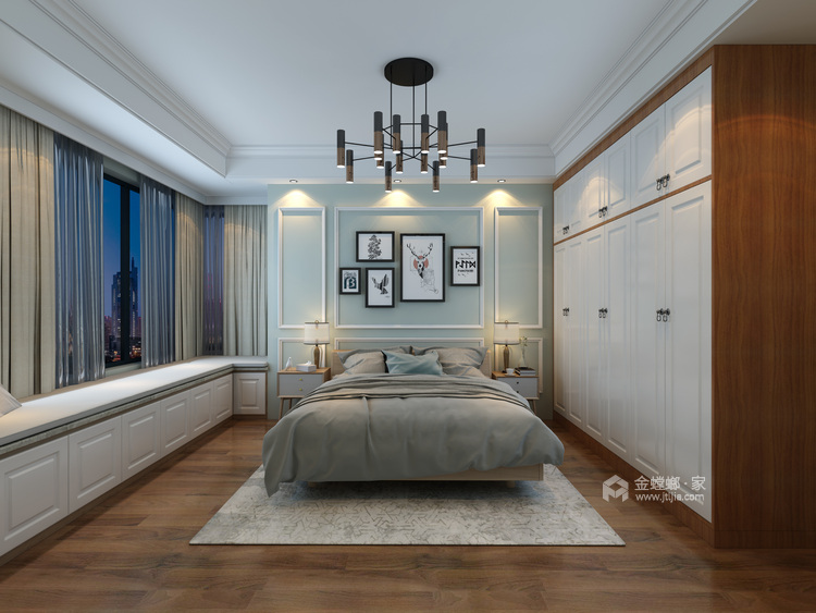现代生活的悠闲与舒适-卧室效果图及设计说明