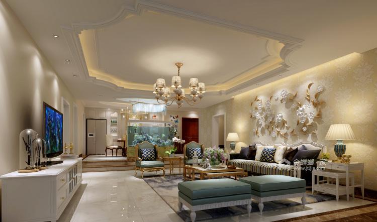 现代轻奢与时尚的结合-客厅效果图及设计说明