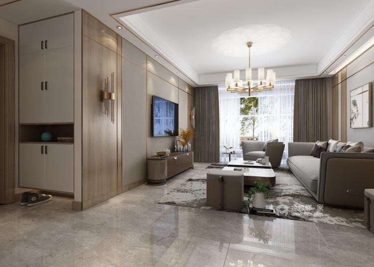 遇见现代,感受惬意-客厅效果图及设计说明