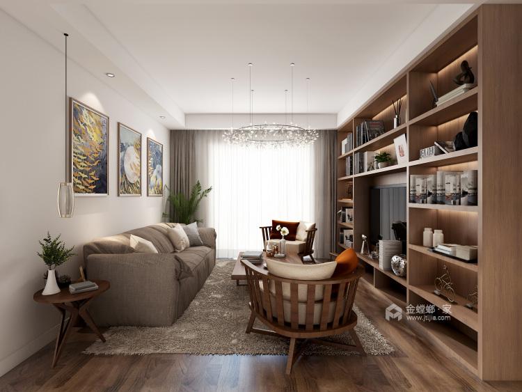 混搭风格的美,给人一种温馨的氛围-客厅效果图及设计说明