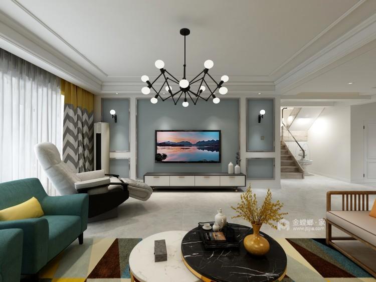 大气端庄的美式,温馨且舒适-客厅效果图及设计说明