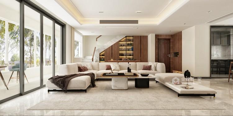 都市自然--演绎与众不同的质朴静谧-客厅效果图及设计说明