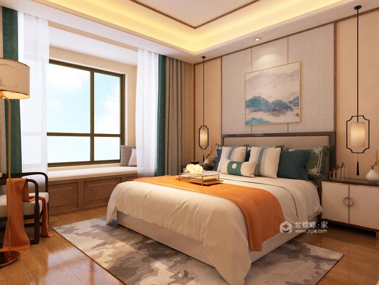 返璞归真,中式元素去装饰点缀而不是去叠加-卧室效果图及设计说明