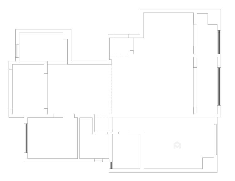 135平现代风格简单一点就好-业主需求&原始结构图