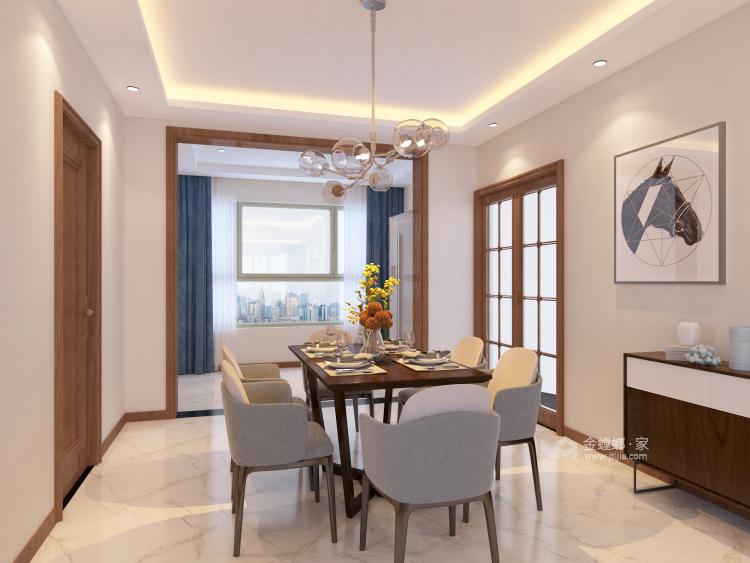 135平现代风格简单一点就好-餐厅效果图及设计说明