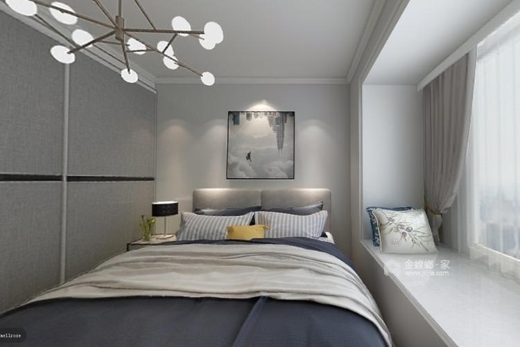 整体家私与风格的感觉延续-卧室效果图及设计说明