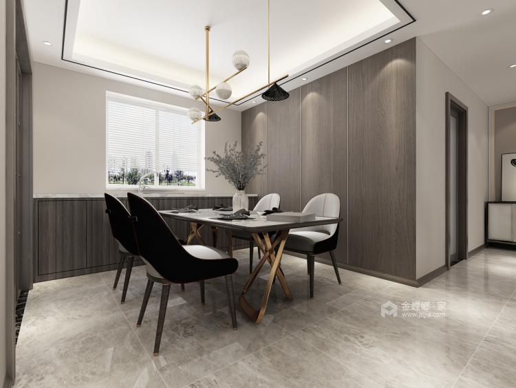 135平极致简奢,演绎品质生活-餐厅效果图及设计说明