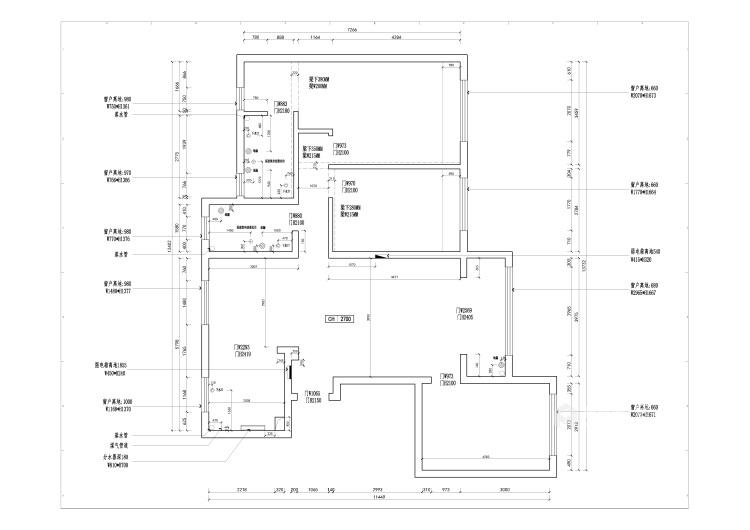135平极致简奢,演绎品质生活-业主需求&原始结构图