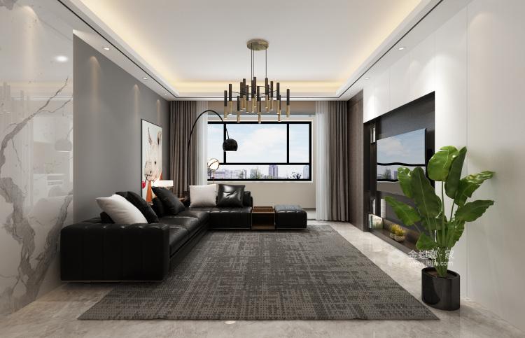 135平极致简奢,演绎品质生活-客厅效果图及设计说明