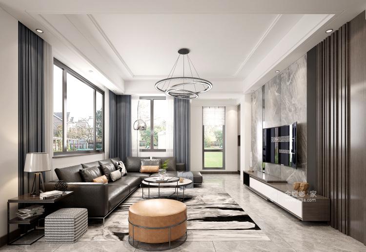 现代气派的246平私家大宅,享受高品质生活-客厅效果图及设计说明