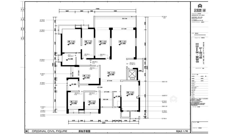 330平大宅 感受法式轻奢空间-业主需求&原始结构图