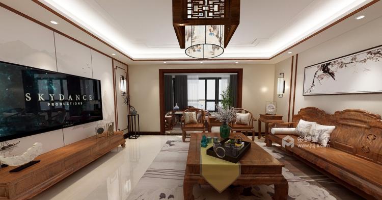 """175平米古朴新中式,有你喜欢的""""味道""""-客厅效果图及设计说明"""