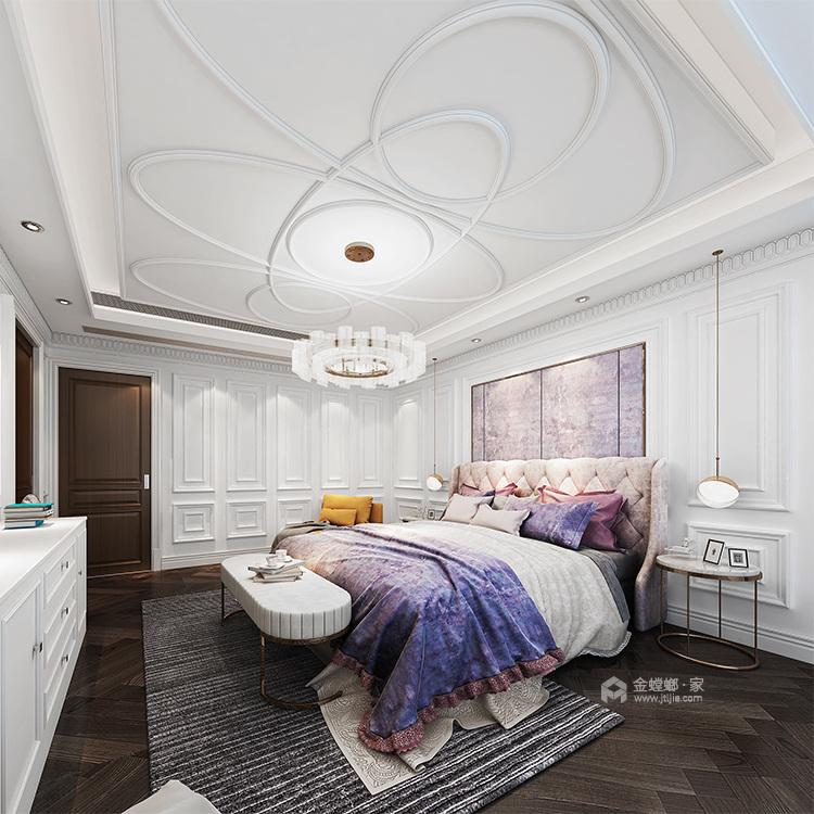 330平大宅 感受法式轻奢空间-卧室效果图及设计说明