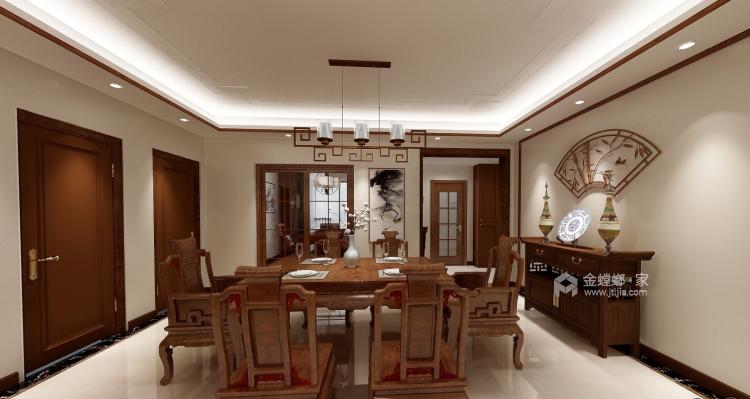"""175平米古朴新中式,有你喜欢的""""味道""""-餐厅效果图及设计说明"""