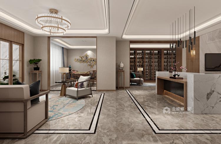 豪华新中式 感受悠闲的生活气息-餐厅效果图及设计说明