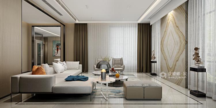 650平大气现代风 寻找未来家的设计灵感-客厅效果图及设计说明