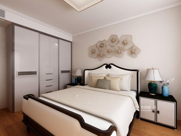 在新中式的典雅清新中,三代同堂共享天伦之乐-卧室效果图及设计说明