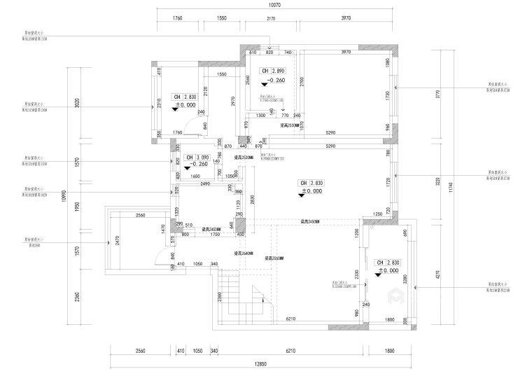 在新中式的典雅清新中,三代同堂共享天伦之乐-业主需求&原始结构图