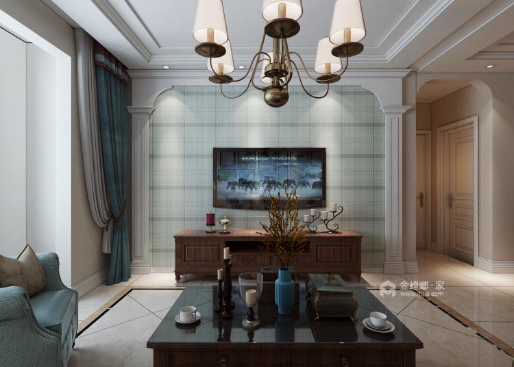 浪漫的美式气息-客厅效果图及设计说明