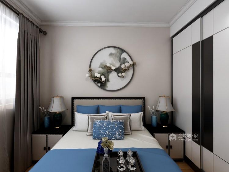 在新中式的典雅清新中,三代同堂共享天伦之乐-卧室