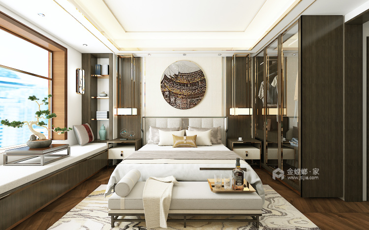 新中式诠释中国的特色-卧室效果图及设计说明
