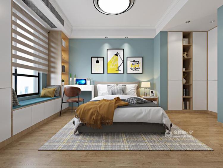 简约大气暖色系家 天然材质尽显家居质感-卧室效果图及设计说明