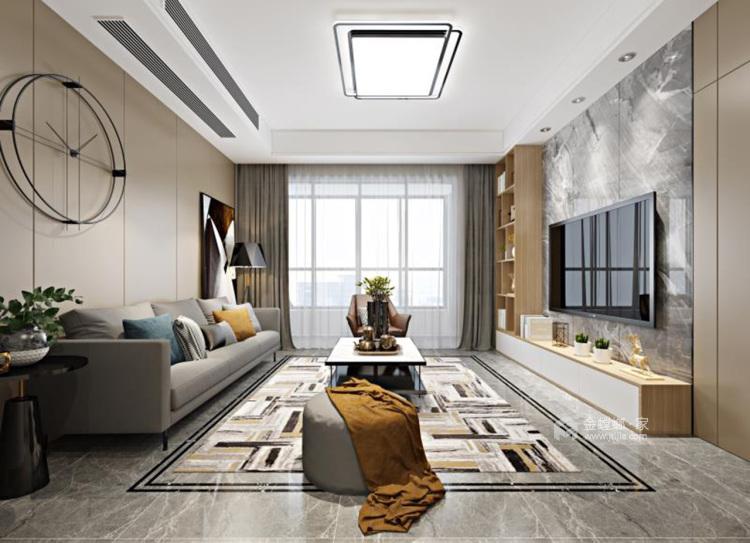 简约大气暖色系家 天然材质尽显家居质感-客厅效果图及设计说明