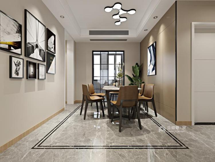 简约大气暖色系家 天然材质尽显家居质感-餐厅效果图及设计说明