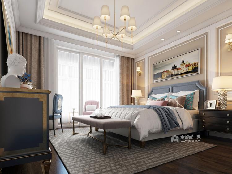 160平米美式轻奢的品质生活-卧室效果图及设计说明