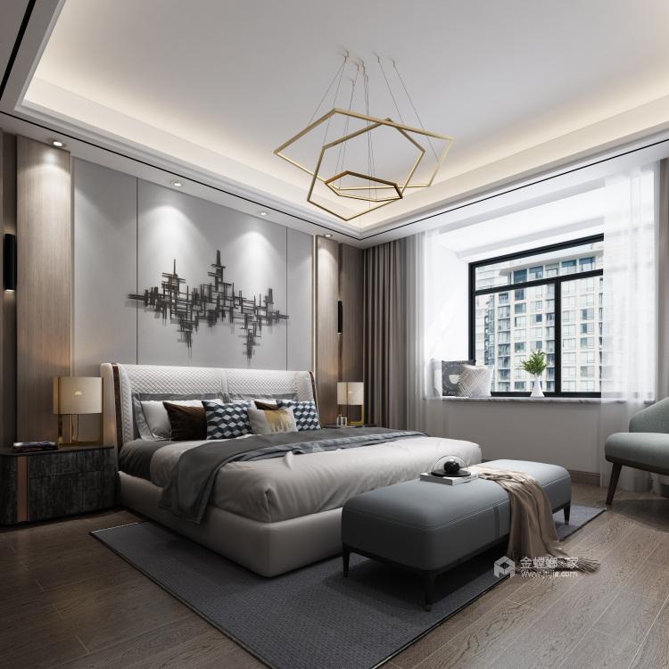 """180平现代简约风-咖色""""低奢""""艺术之旅-卧室效果图及设计说明"""