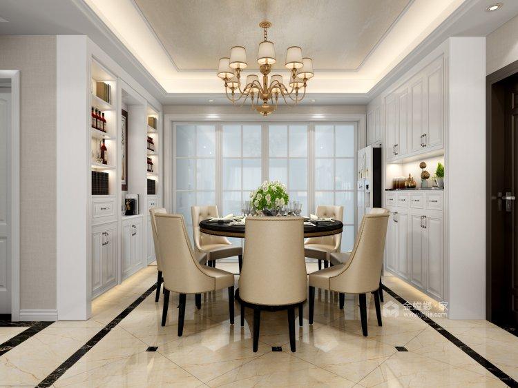 温馨与品质相融合的130平三口幸福之家-餐厅效果图及设计说明