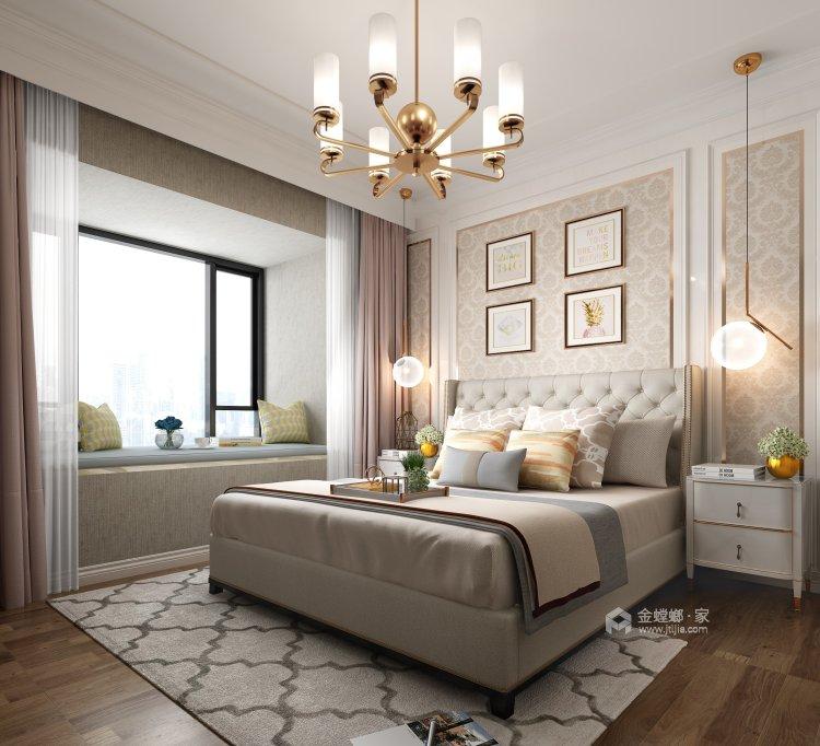 温馨与品质相融合的130平三口幸福之家-卧室效果图及设计说明
